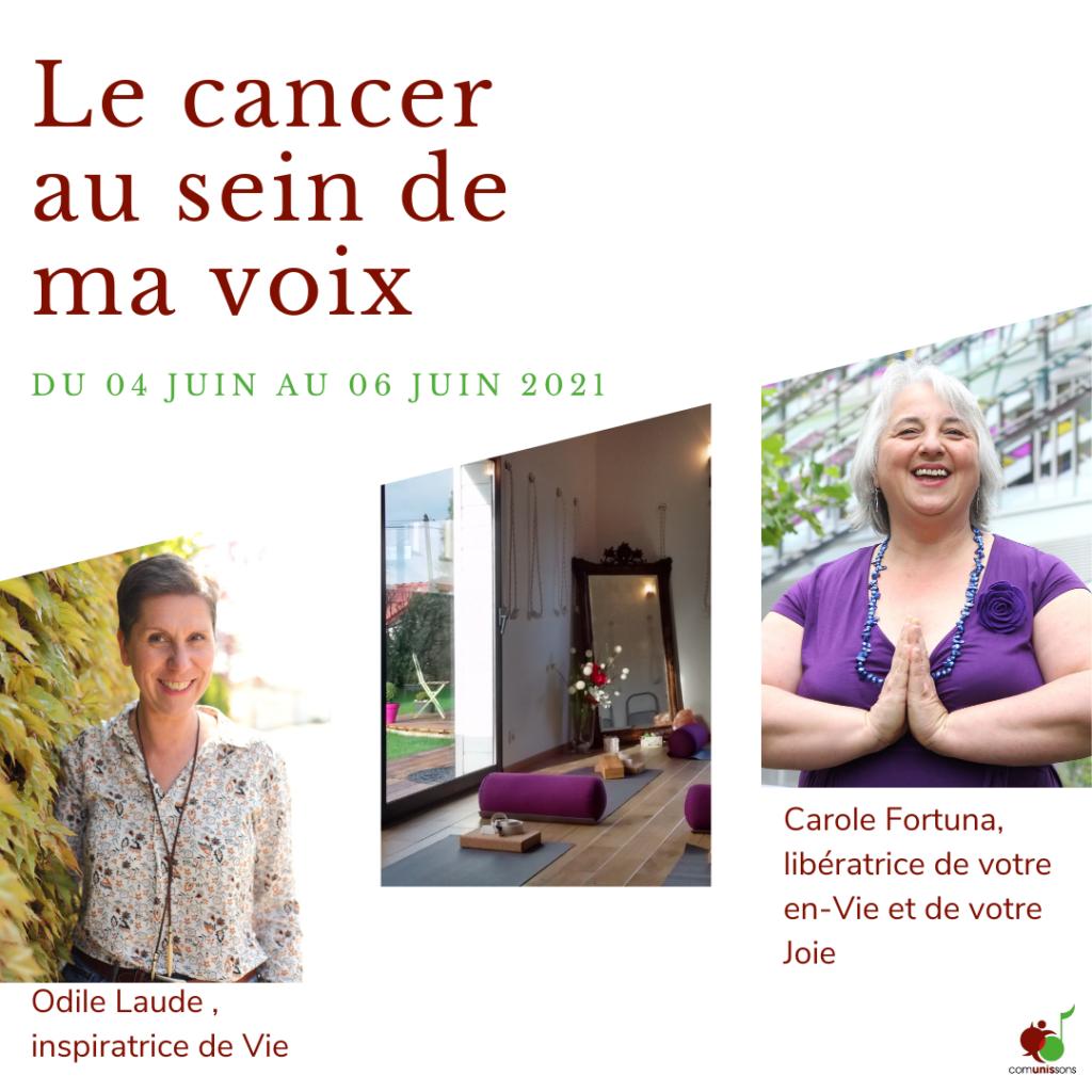 weekend de ressourcement le cancer au sein de ma voix annonce de l'évènement dédié aux femmes ayant ou ayant eu un cancer au sein